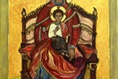 De tronende moeder gods